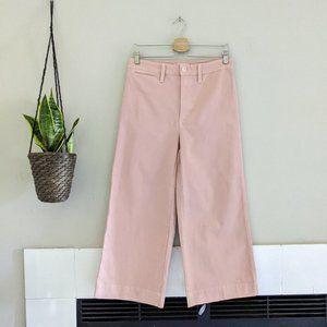 New Madewell Pink Emmett Crop Wide Leg Pants